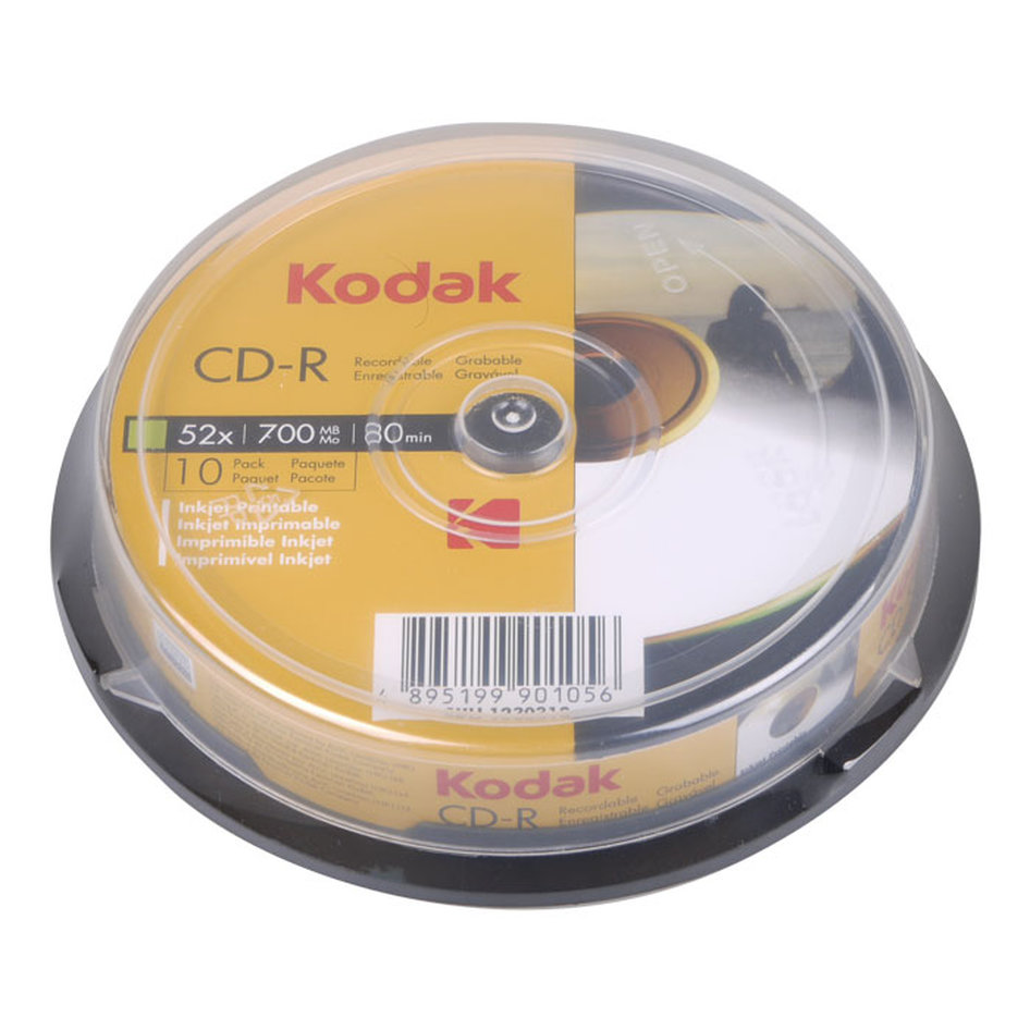 KODAK CD-R 52x 700MB, Εκτυπώσιμα, 10-pack cakebox