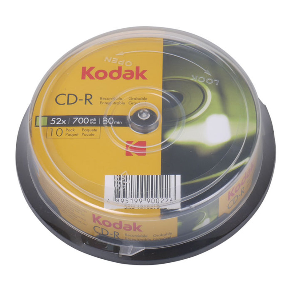 KODAK CD-R 52x 700MB, 10-pack cakebox