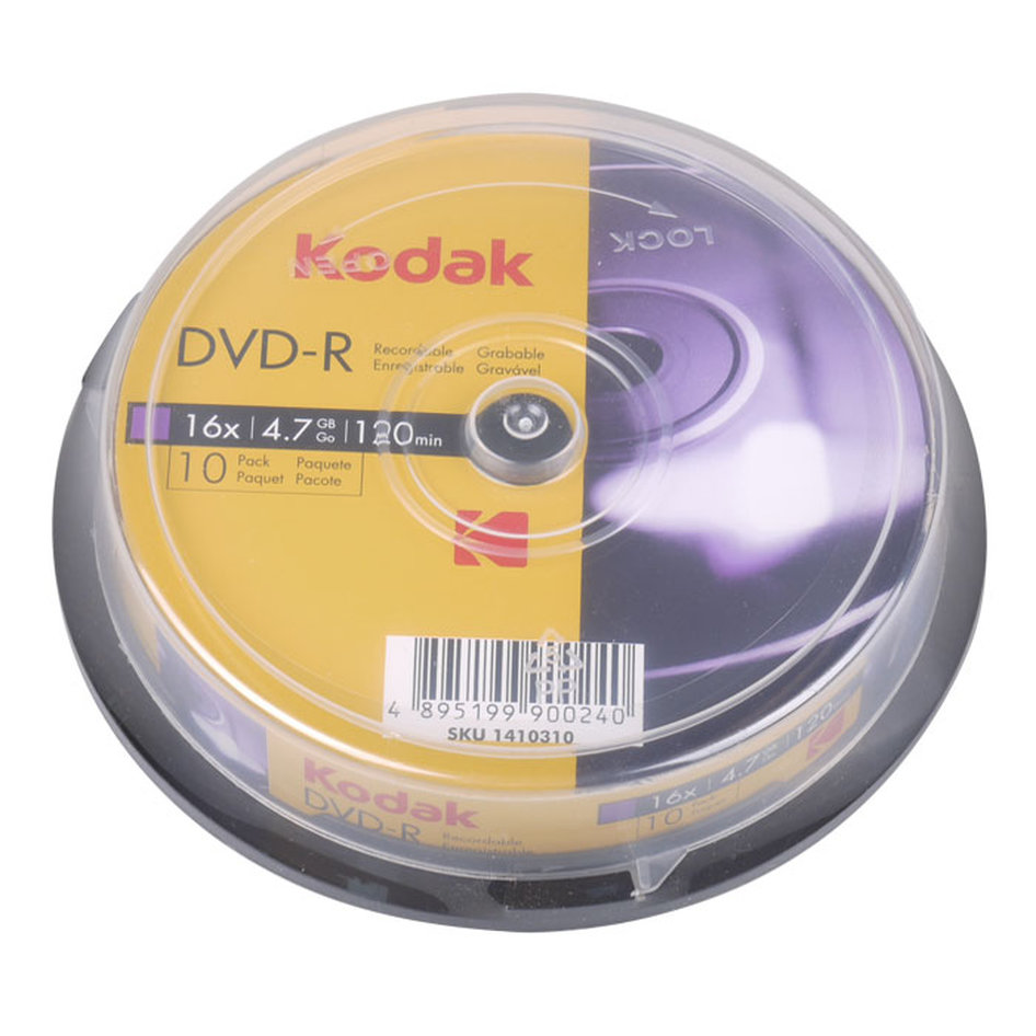 KODAK DVD-R 10-Pack 16x 4.7GB