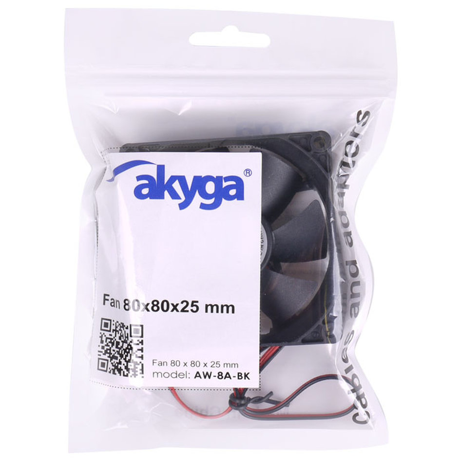 AKYGA AW-8A-BK FAN 80MM BLACK