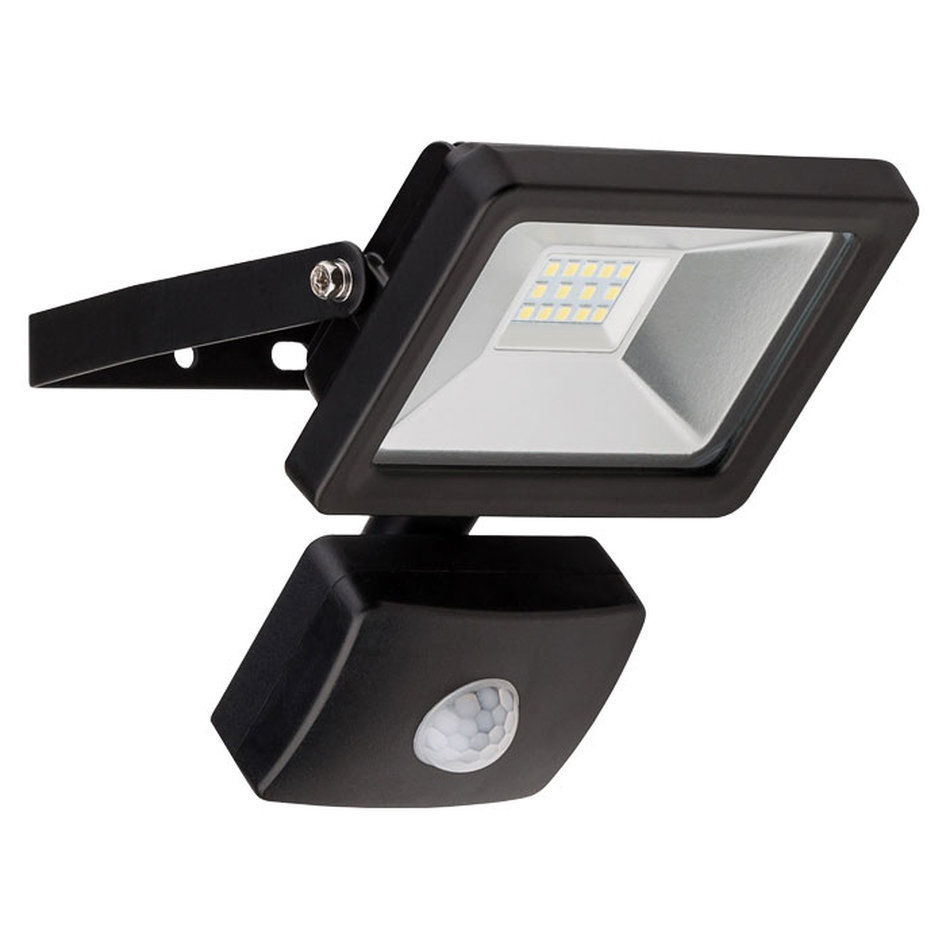 58998 LED OUTDOOR FLOODLIGHT WITH MOTION SENSOR BLACK 10W 830lm