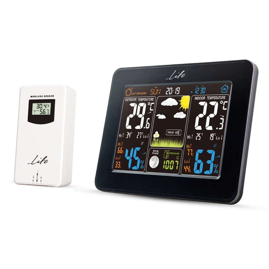 LIFE Rainforest Weather station with adaptor & wireless outdoor sensor