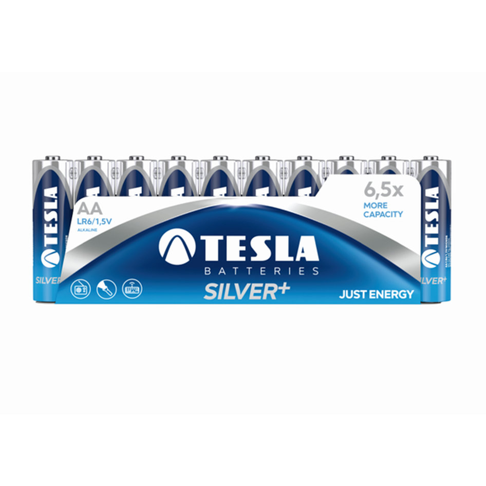 Tesla Alcaline Battery AA Silver Pack 10pieces