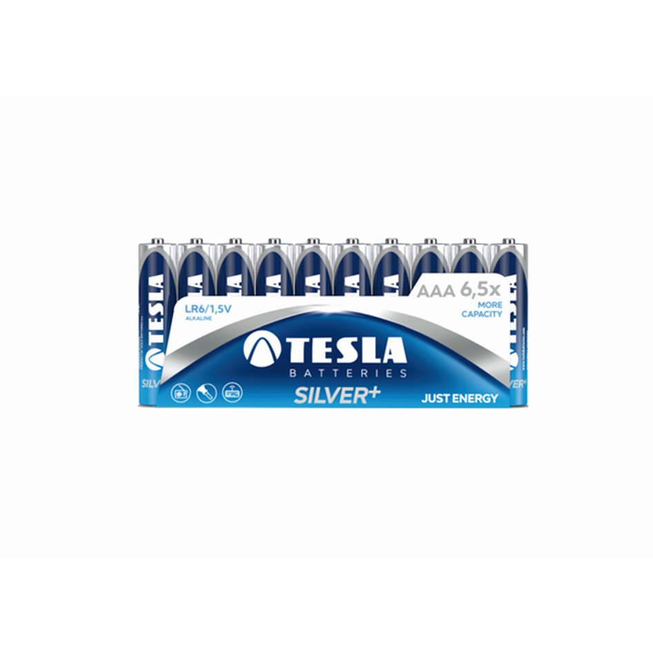 Tesla Alcaline Battery AAA Silver Pack 10pieces