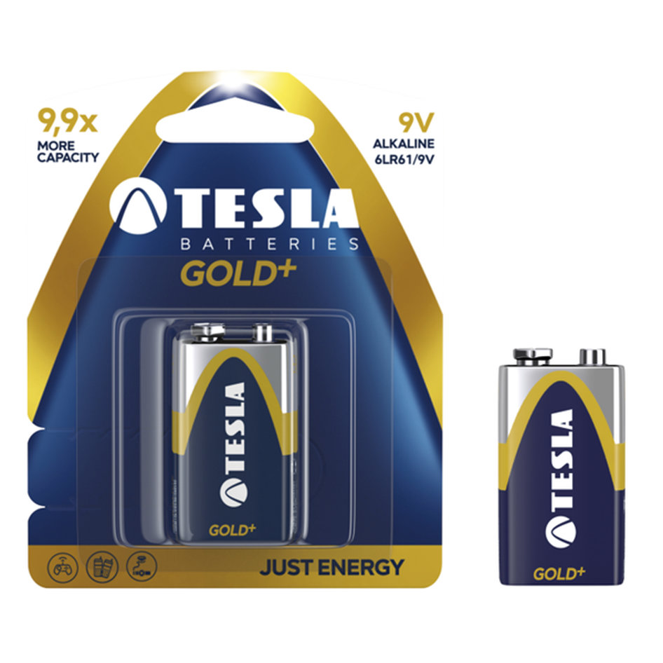 Tesla Alcaline Battery 9V Gold+