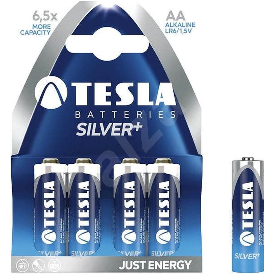 Tesla Alcaline Battery AA Silver Pack 4pieces