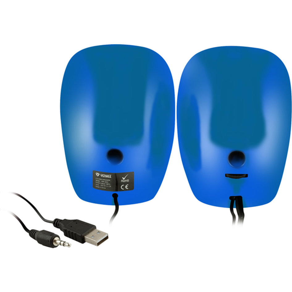 Yenkee Stereo Speakers (3.5mm) 2 X 3W Blue YSP 2001 BE