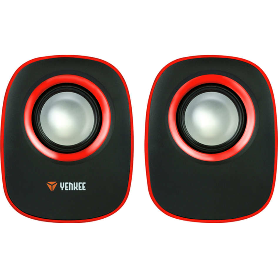 Yenkee Stereo Speakers (3.5mm) 2 X 3W Red YSP 2001RD