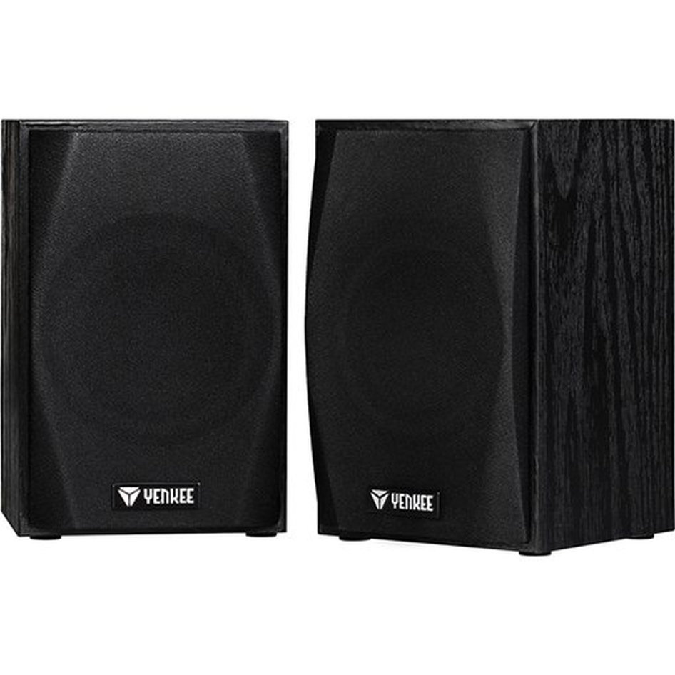 Yenkee Wooden Stereo Speakers (3.5mm) 2 x 2.5W Black YSP 2010BK