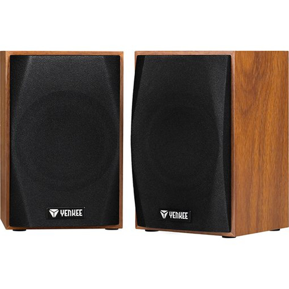Yenkee Wooden Stereo Speakers (3.5mm) 2 x 2.5W Brown YSP 2010BN