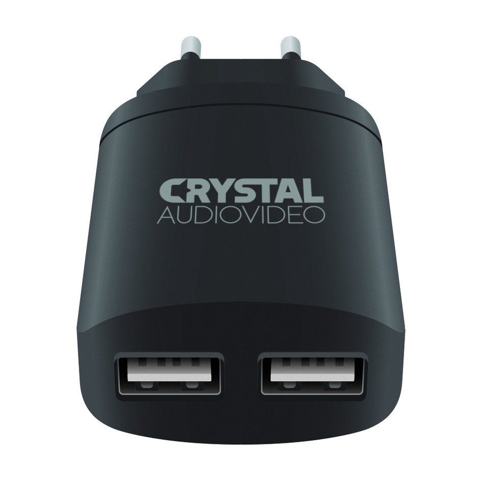 CRYSTAL AUDIO P2-3.4 5V / 3.4A Dual USB Wall Charger