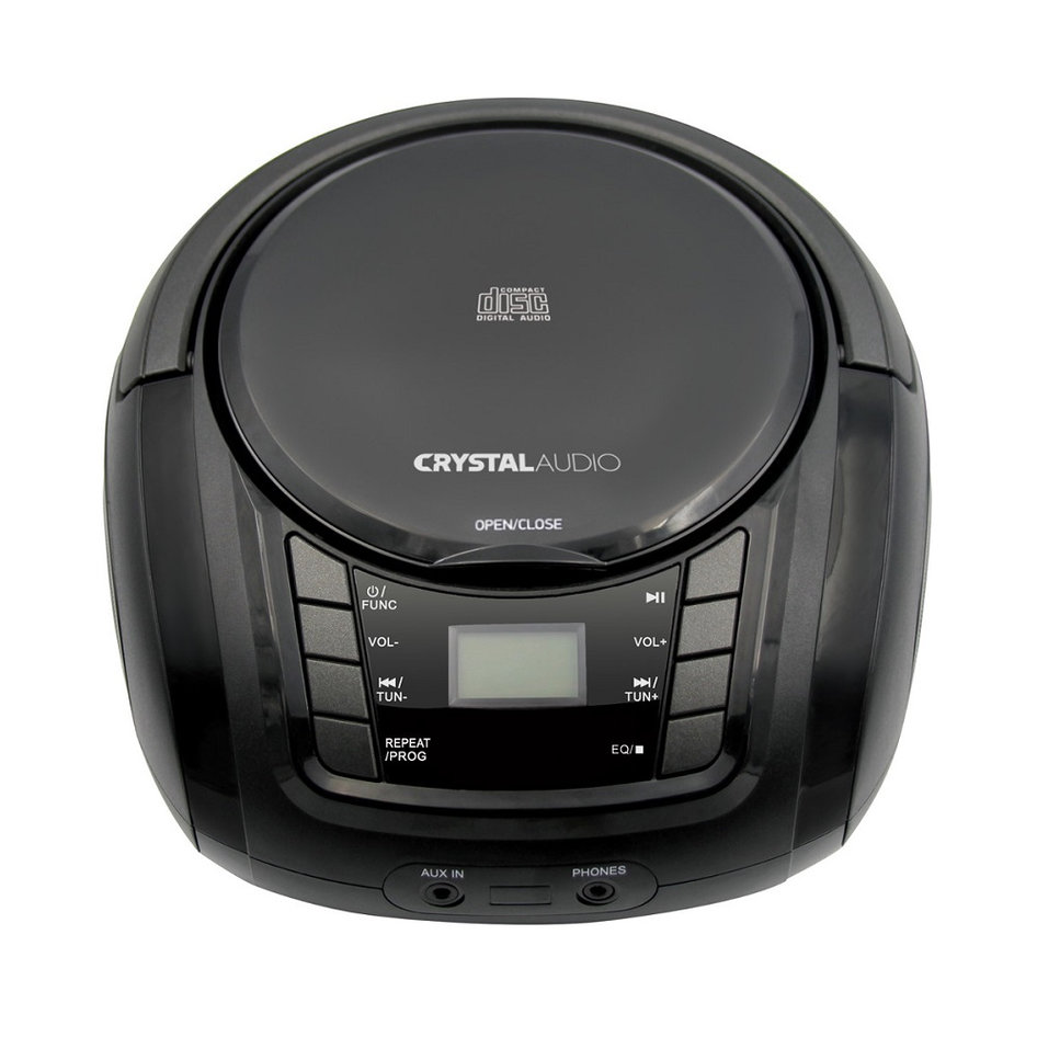 CRYSTAL AUDIO BMB1K CD/MP3/FM PLAYER BLACK