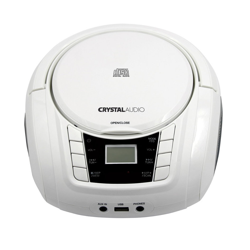 CRYSTAL AUDIO BMBU2W CD/MP3/FM/USB PLAYER WHITE