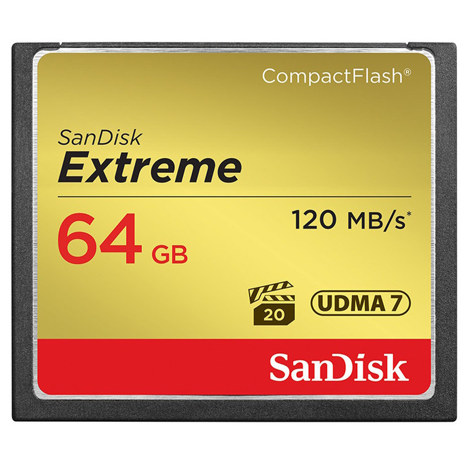 SanDisk Compact Flash Extreme 64GB 120/85MBs