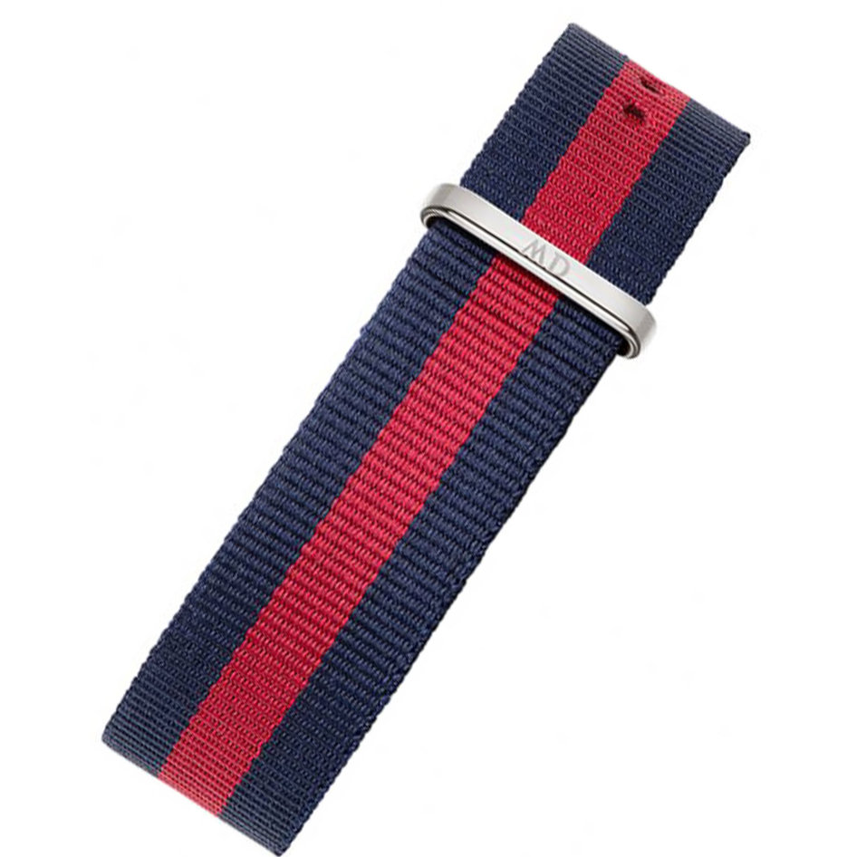 DANIEL WELLINGTON 20mm Blue & Red Fabric Strap (Fits 40mm Case)
