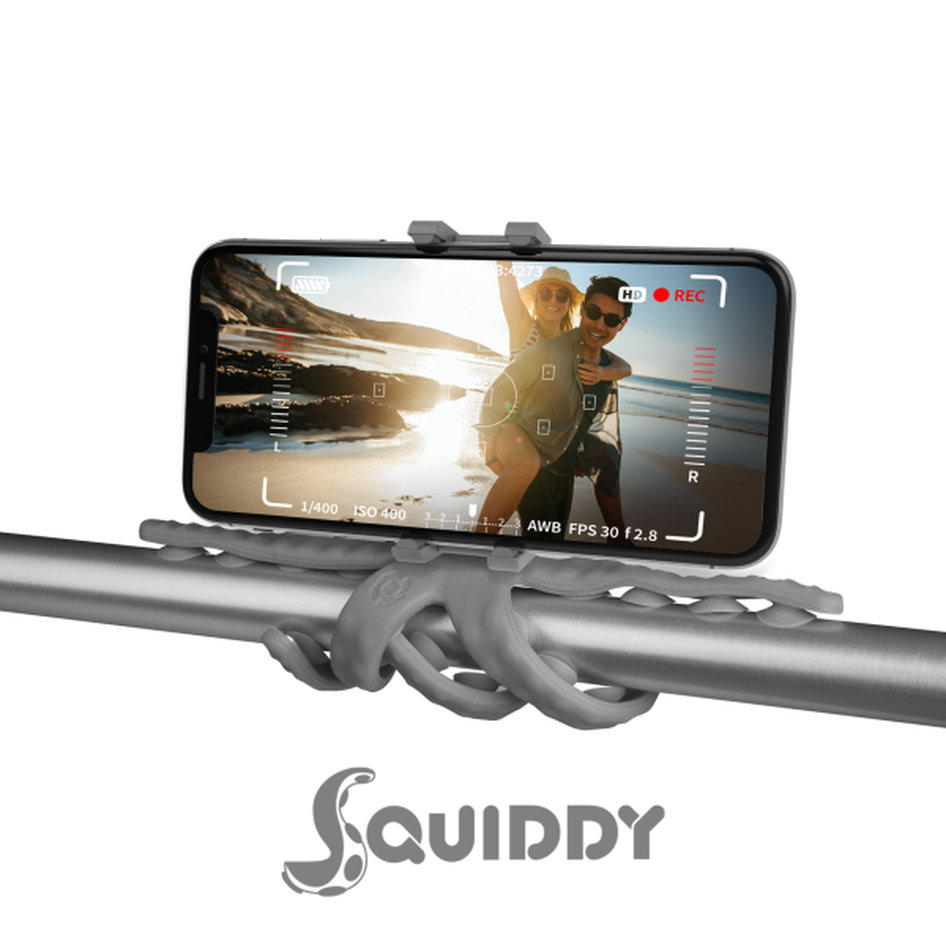 Celly Squiddy Flexible Mini Tripod Γκρι