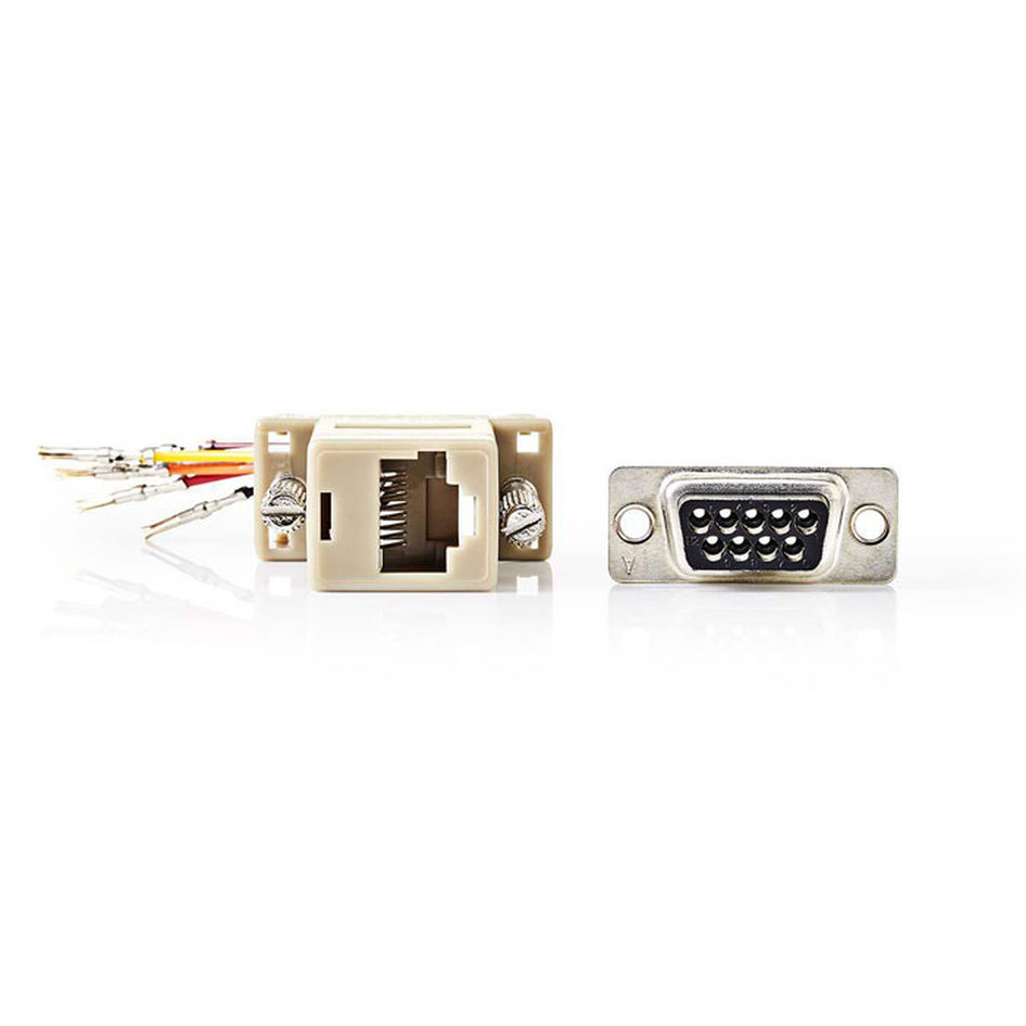 NEDIS CCGP52820IV D-Sub Adapter D-Sub 9-Pin Female - RJ45 (8P8C) Female Ivory