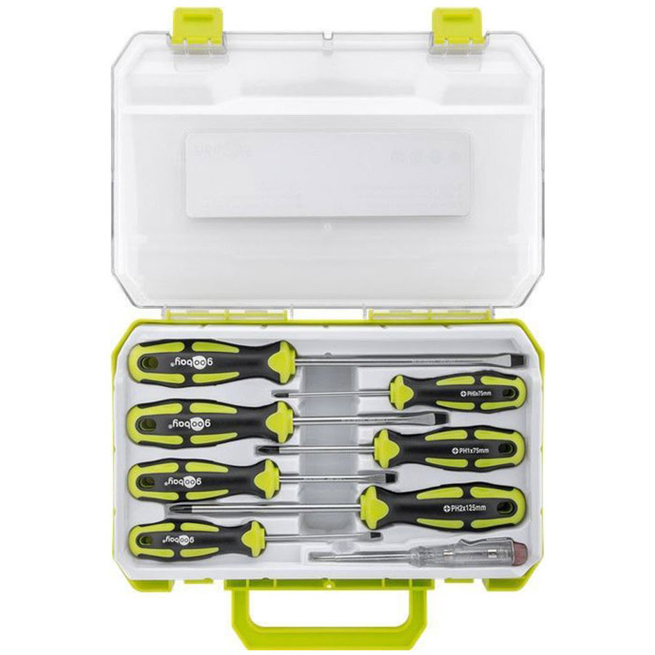 73999 8-piece precision screwdriver box for all conventional screwing and assemb