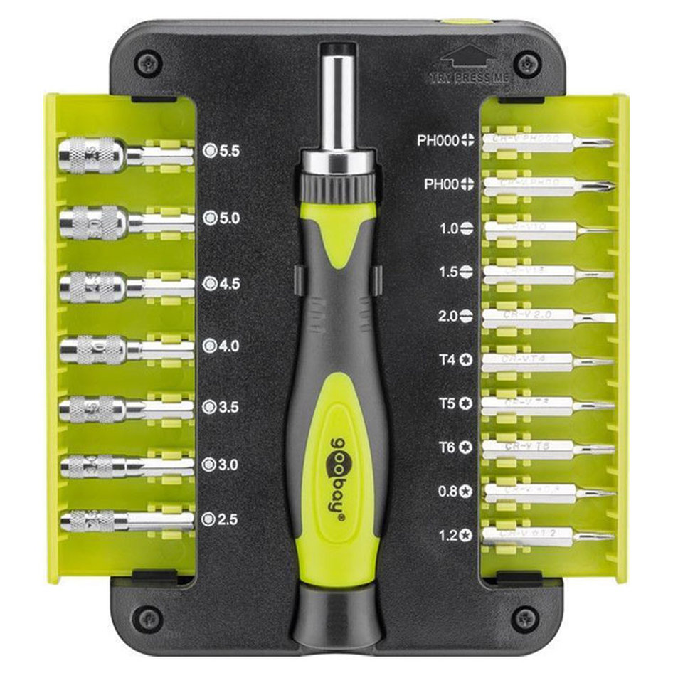 74006 18-piece precision screwdriver set for precision screwing