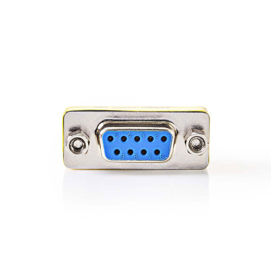 NEDIS CCGP52810ME D-Sub Coupler D-Sub 9-Pin Female - D-Sub 9-Pin Female Metal
