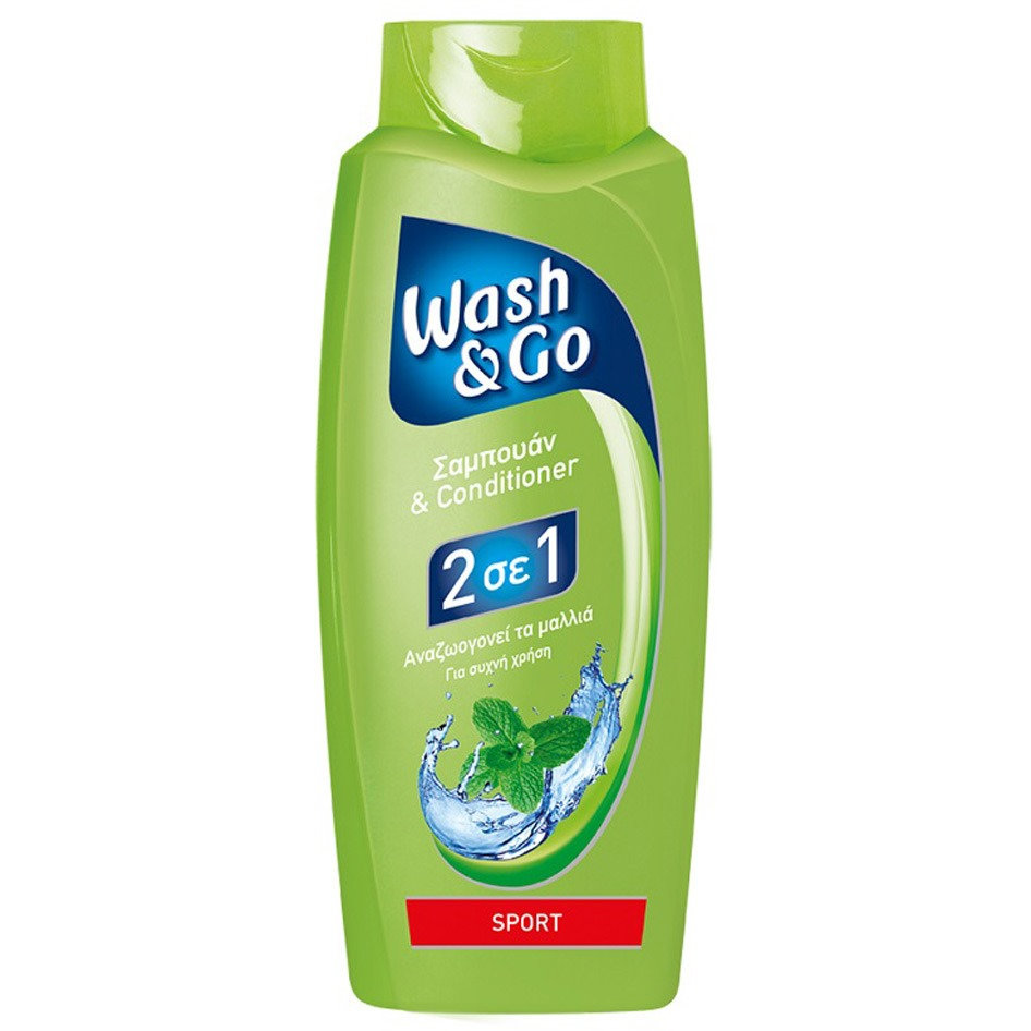 WASH&GO SHAMPOO 2IN1 SPORT 700ML R16