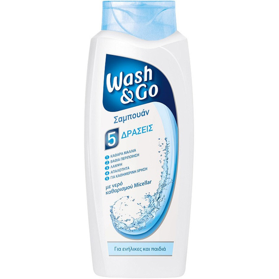 WASH&GO SHAMPOO MICELLAR WATER 700ML