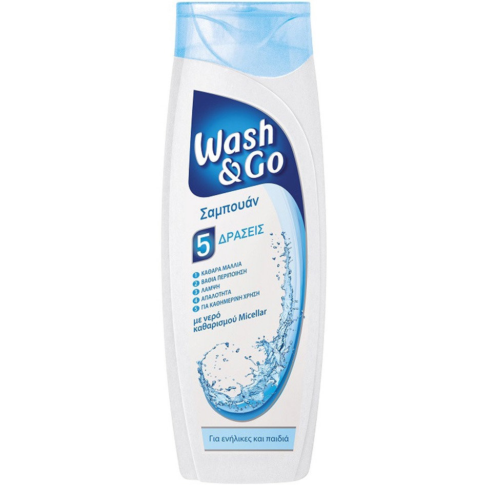 WASH&GO SHAMPOO MICELLAR WATER 400ML