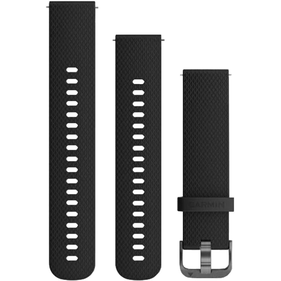 GARMIN Approach QuickFit 20mm Black Silicone Replacement Strap