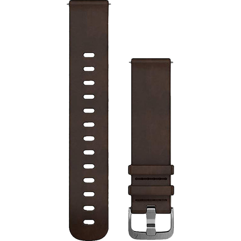 GARMIN Approach QuickFit 20mm Dark Brown Leather Replacement Strap
