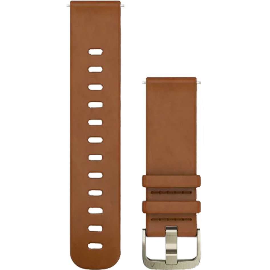 GARMIN Approach QuickFit 20mm Light Brown Leather Replacement Strap