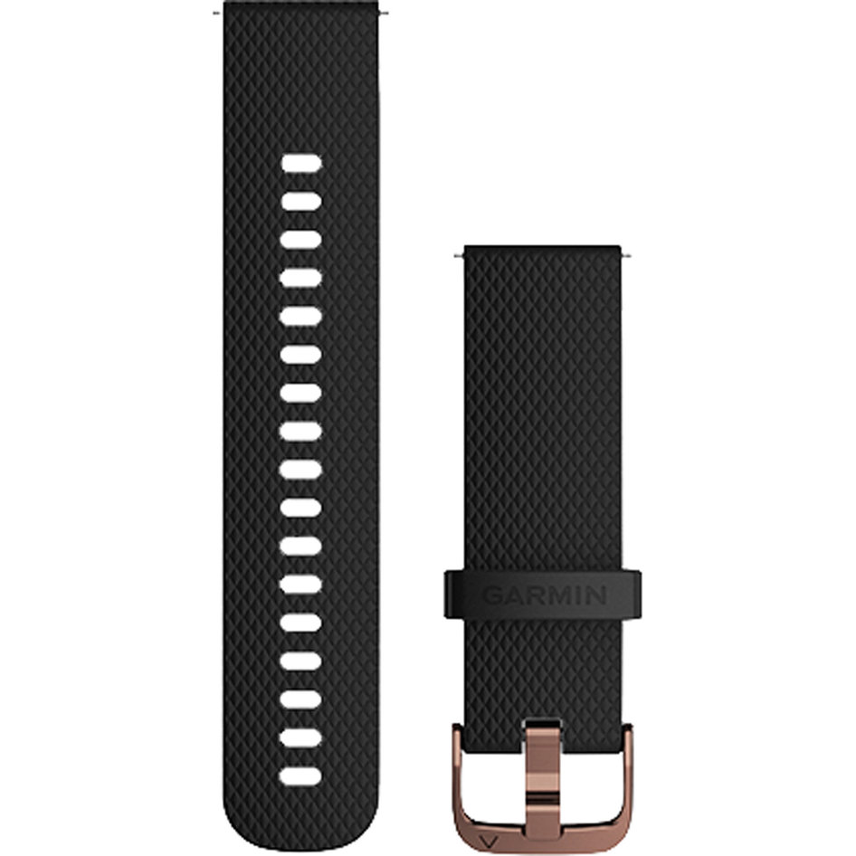 GARMIN Approach QuickFit 20mm Black/Rose Gold Silicone Replacement Strap