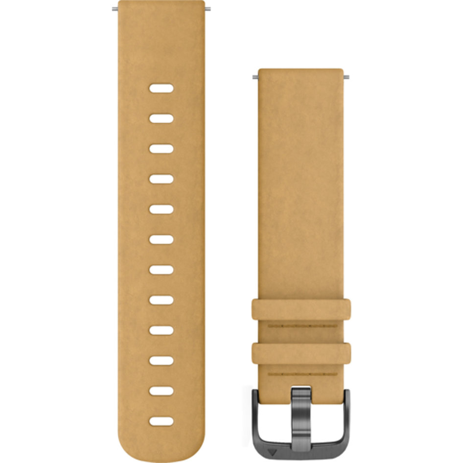 GARMIN Approach QuickFit 20mm Tan Leather Replacement Strap