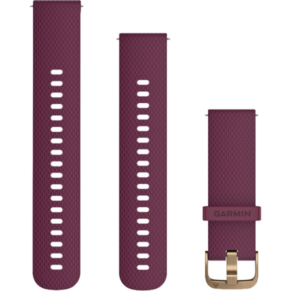 GARMIN Approach QuickFit 20mm Merlot-Gold Silicone Replacement Strap