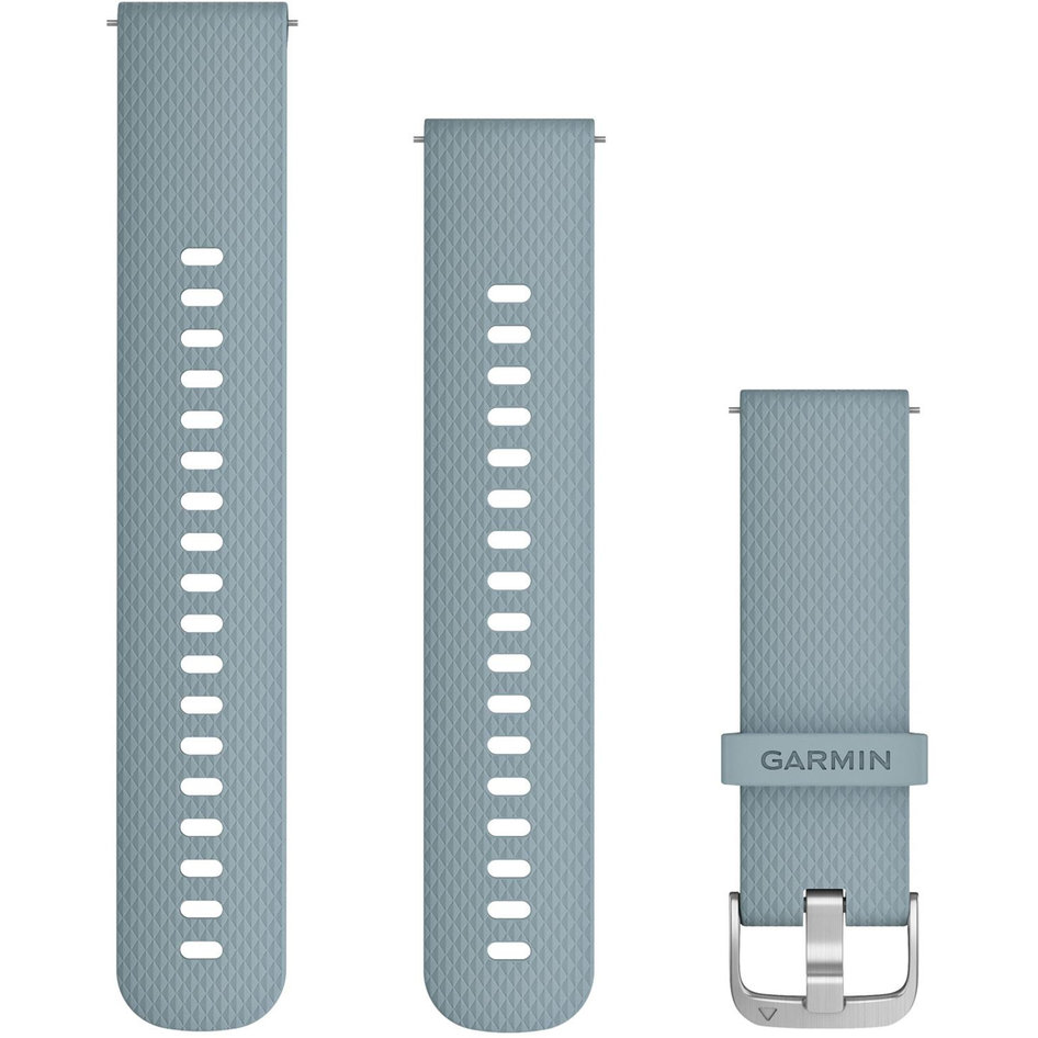 GARMIN Approach QuickFit 20mm Seafoam-Silver Silicone Replacement Strap