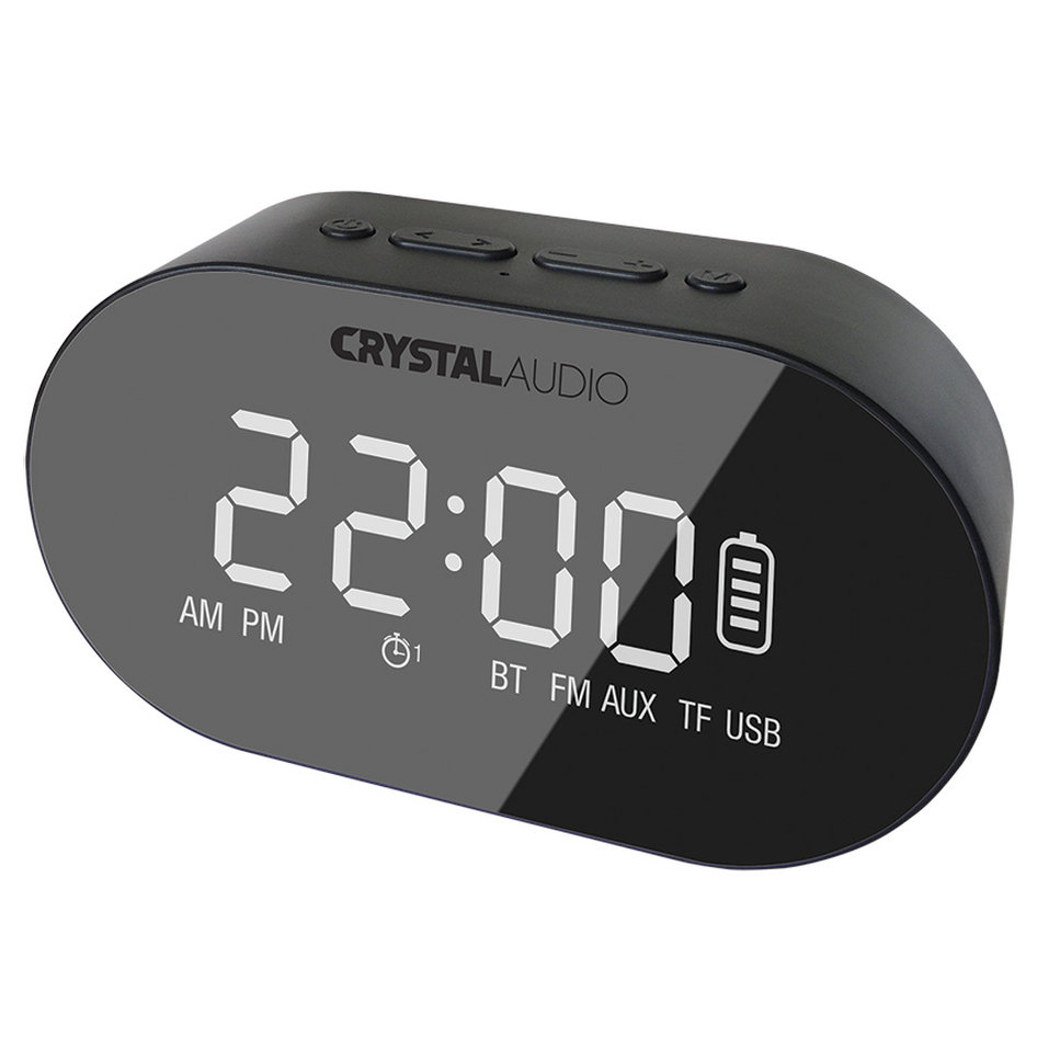 CRYSTAL AUDIO BTC1K BT SPEAKER ALARM CLOCK RADIO ΜΑΥΡΟ