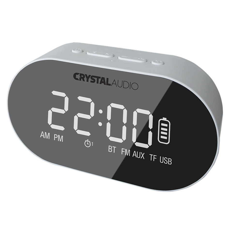 CRYSTAL AUDIO BTC1W BT SPEAKER ALARM CLOCK RADIO ΛΕΥΚΟ