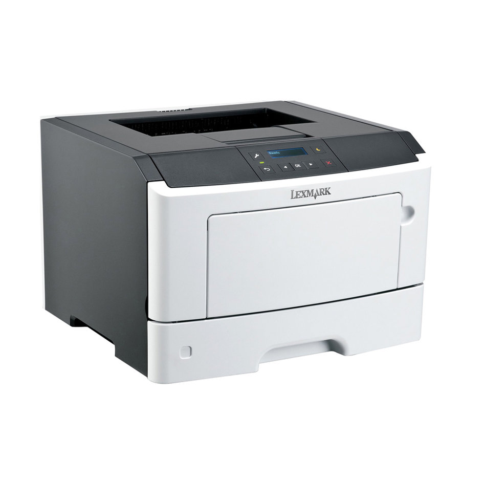 LEXMARK used Printer MS410DN, Laser, monochrome, με toner & drum