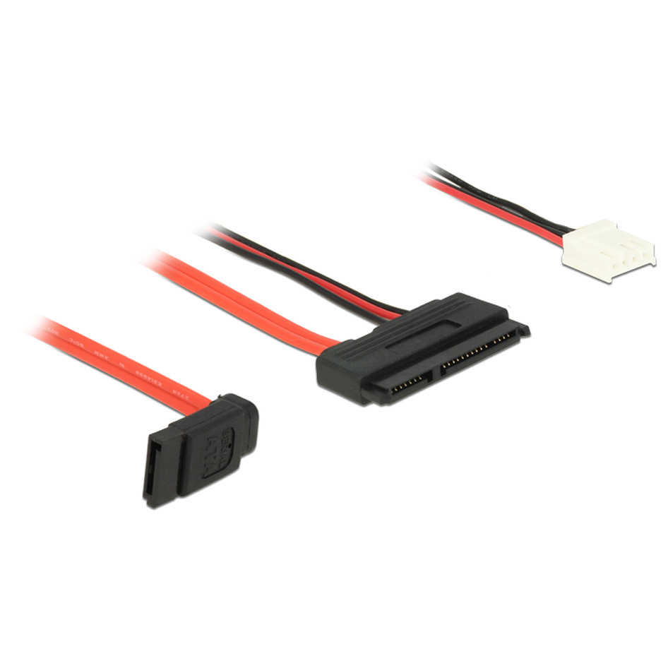DELOCK Cable SATA 6Gb/s 7pin + 4pin σε SATA 22pin, straight 30cm