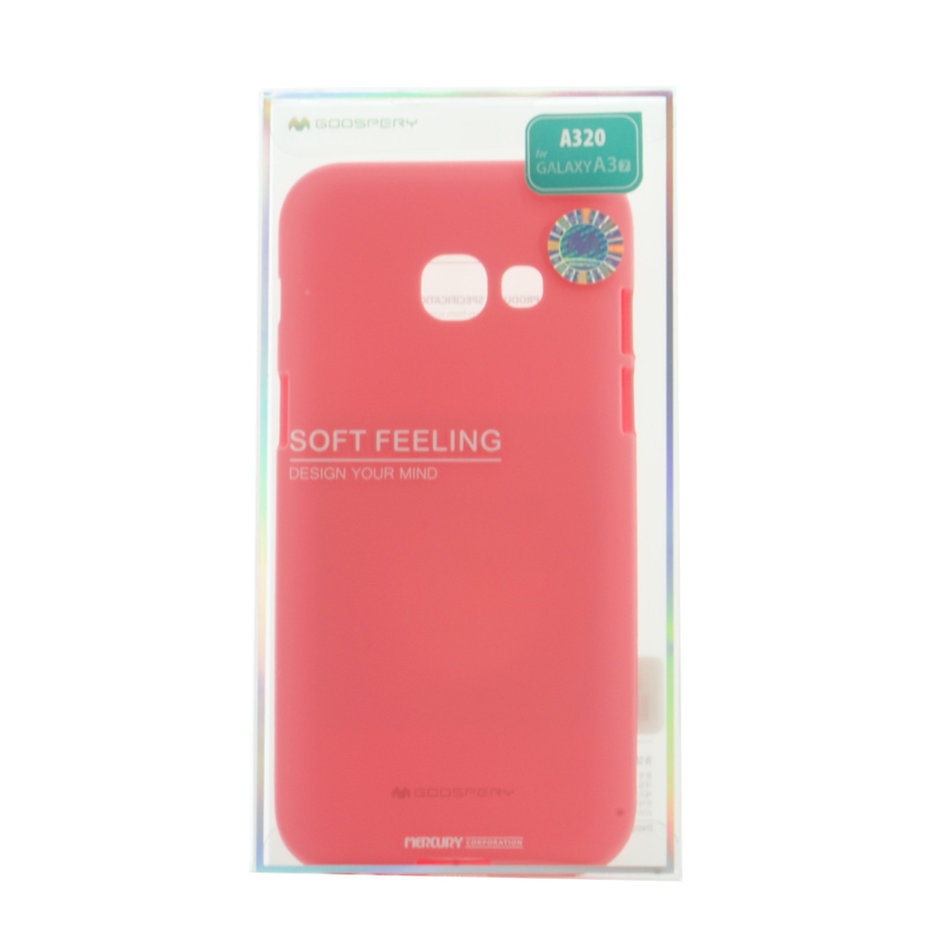 MERCURY Θήκη Soft Feeling Jelly για Samsung A3 2017, Pink