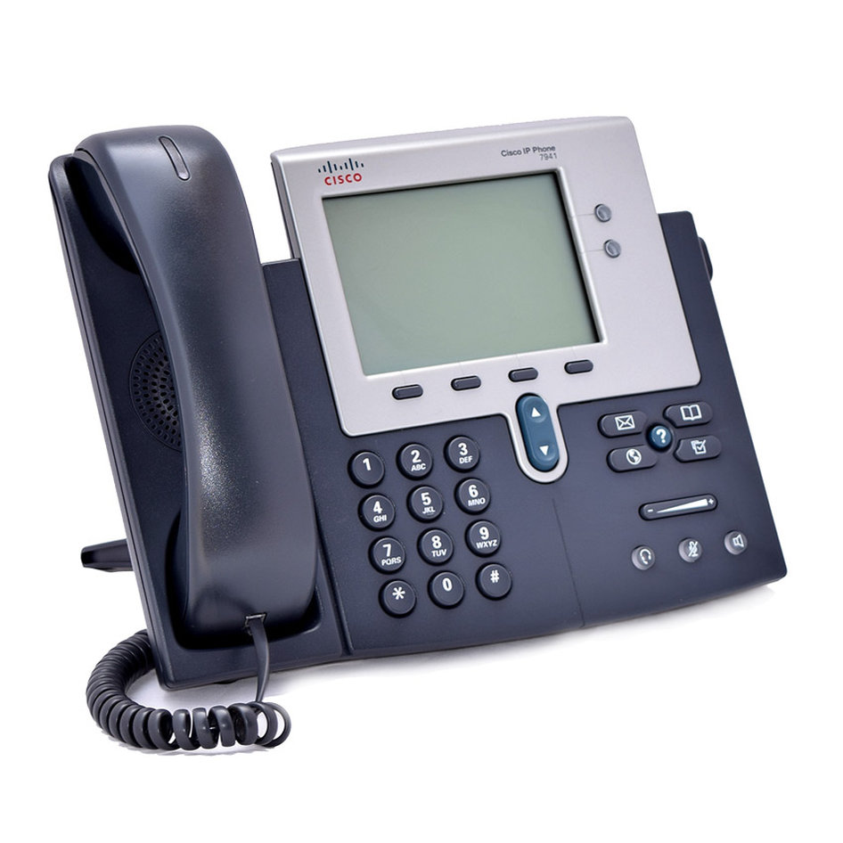 CISCO used Unified IP Phone 7941G, PoE, Dark Gray