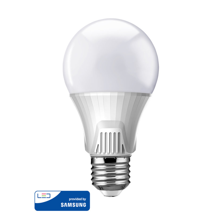 POWERTECH LED Λάμπα Bulb 9W, Daylight 6500K, E27, Samsung LED, IC