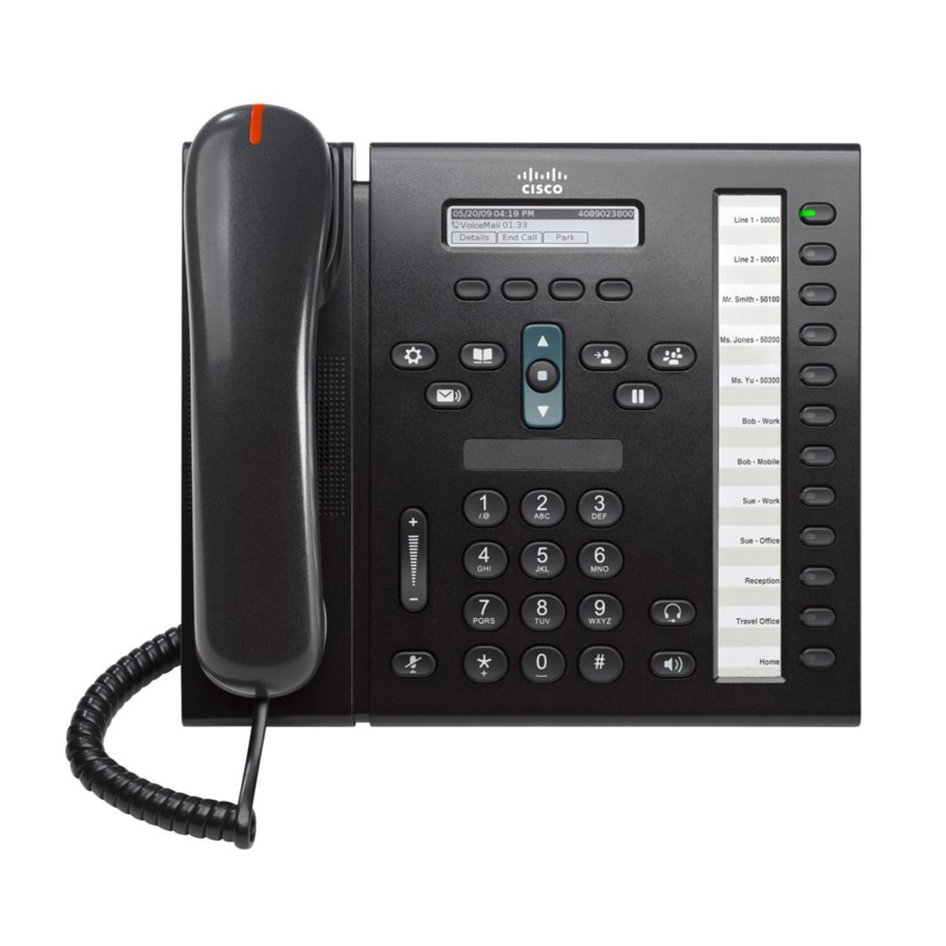 CISCO used Unified IP Phone 6961, POE, Dark Gray