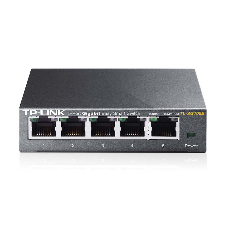 TP-LINK  Easy Smart Switch TL-SG105E,  5-Port Gigabit, Ver. 4.0