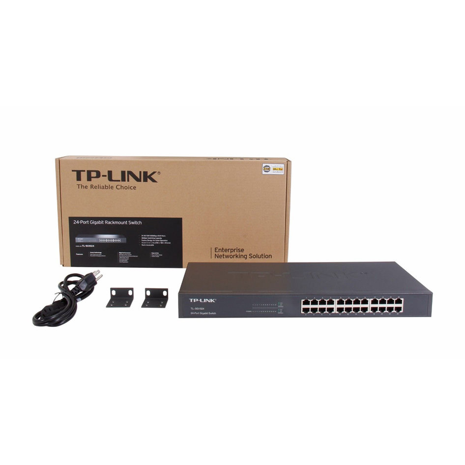TP-LINK Gigabit Rackmount Switch TL-SG1024 24-Port, Ver. 11