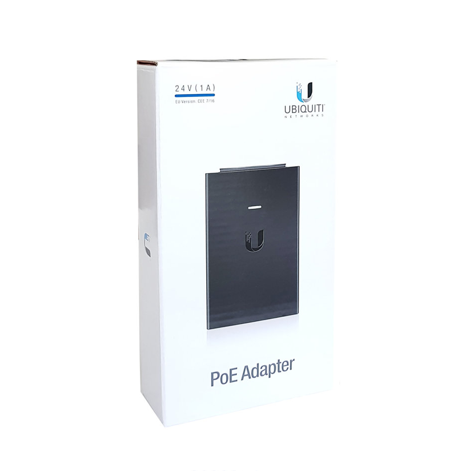 UBIQUITI PoE Adapter POE-24-24W, 24V, 1A, 24W, με power cable