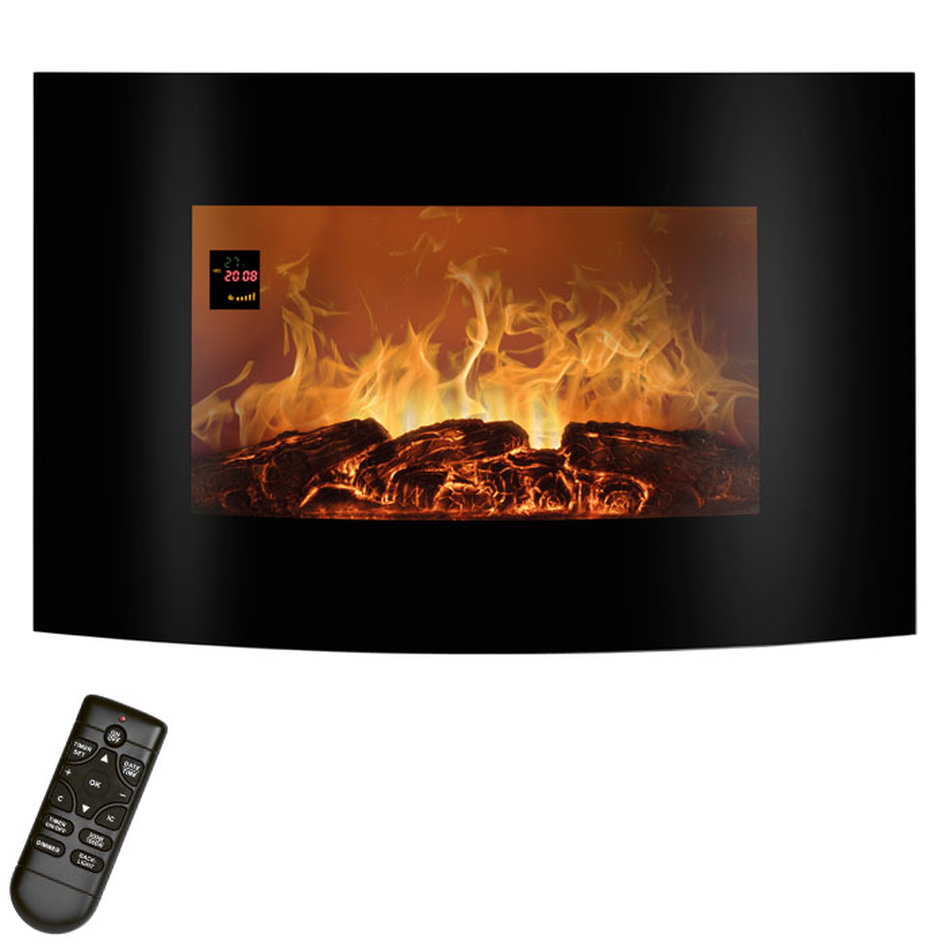 EK 6021 CB Electric Fireplace with curved glass front 900-1800 W