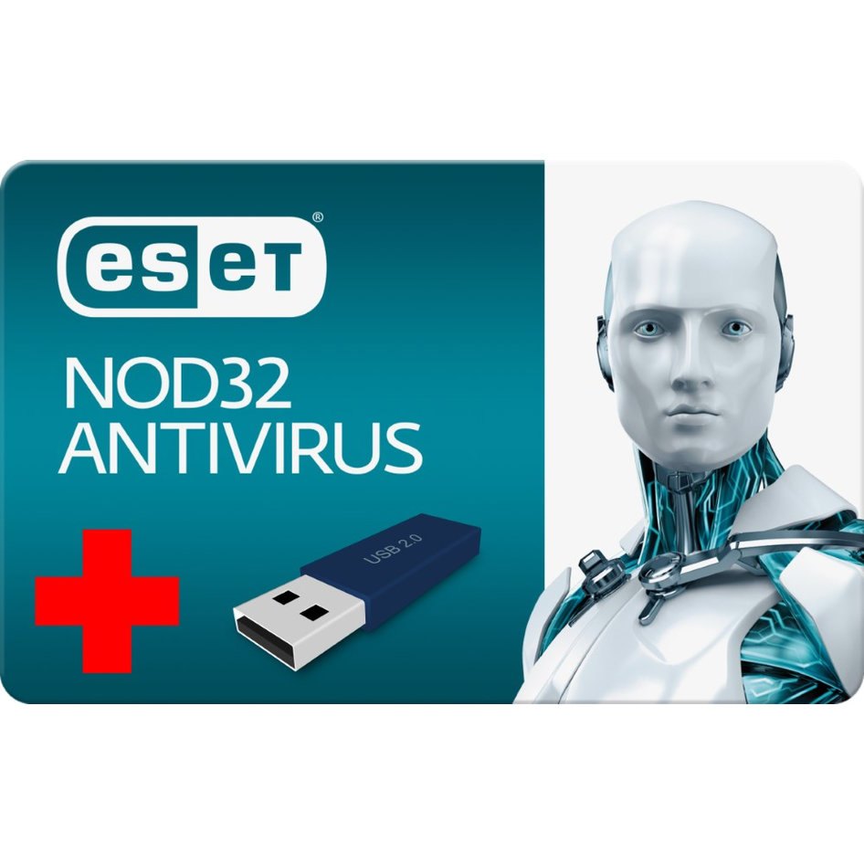 Bundle BNDL-0023 ESET Antivirus NOD32A5-2, 1 συσκευή - 1 έτος + USB 16GB