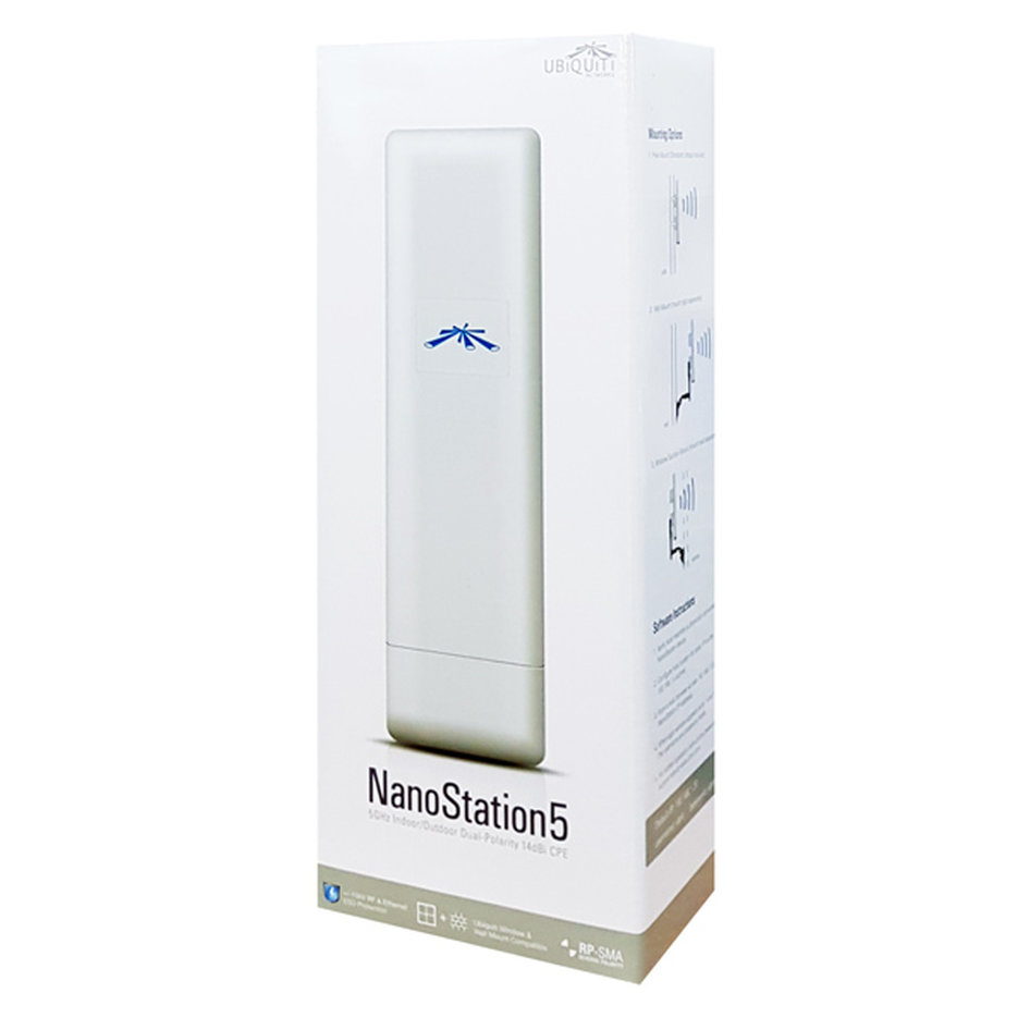 UBIQUITI NanoStation NS5, 5GHz, 14dBi, Dual polarity Indoor/Outdoor