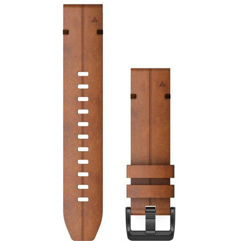 GARMIN QuickFit 22 Chestnut Leather Replacement Strap