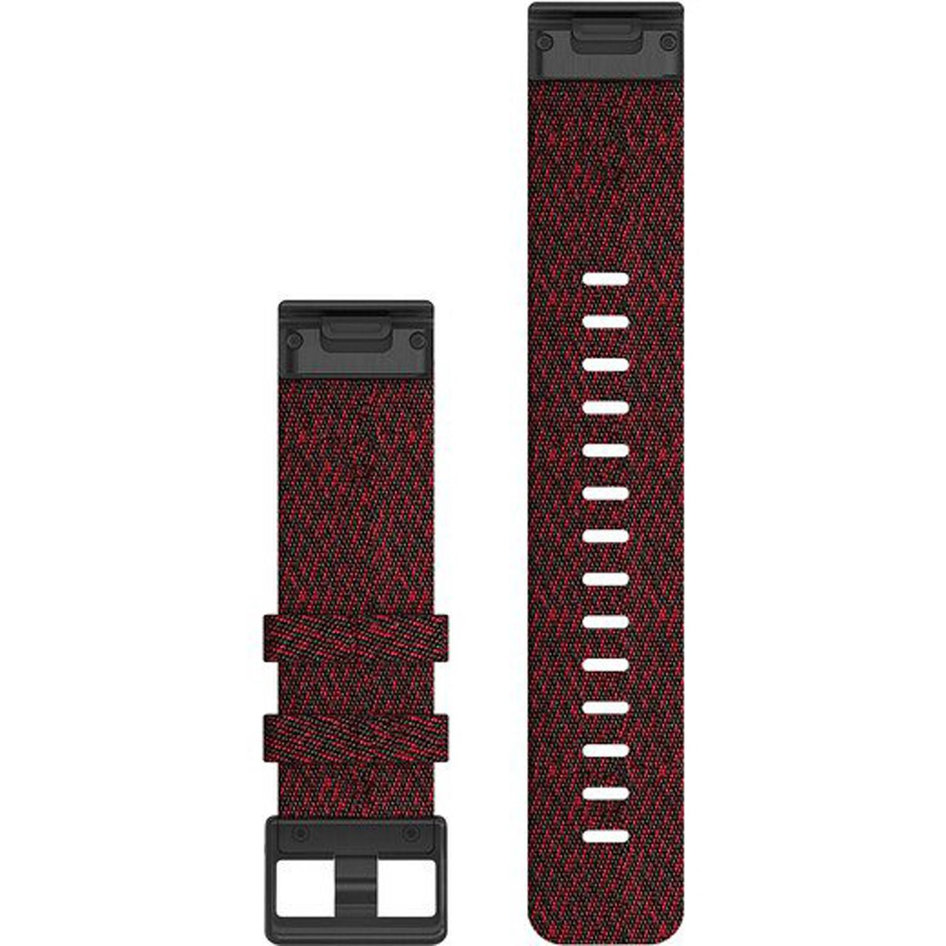 GARMIN QuickFit 22 Heathered Red Nylon Replacement Strap